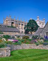Christchurch College Gardens, Oxford, Oxfordshire, England.