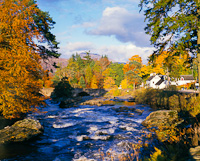 Killin, Dochart Falls, Stirling, Scotland.