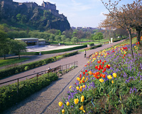 Princes Street Gardens, Edinburgh, Scotland.