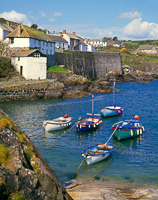 Coverack Harbour, The Lizard, Cornwall, England.