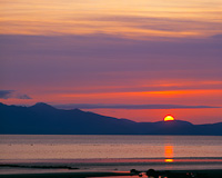 Arran from Nr. Ayr, Ayrshire, Scotland.