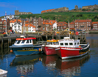 Whitby Harbour, Yorkshire, England.