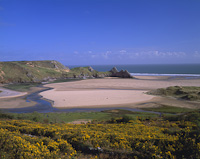 Three Cliffs Bay, The Gower, South Wales.