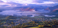 Derwent Water & Keswick from Latrigg, Cumbria, England.