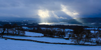 Windermere from Troutbeck, Cumbria, England.