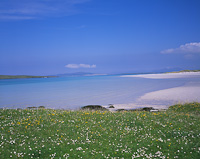 Lingay from Lingay Strand, North Uist, Outer Hebrides, Scotland.
