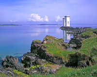 Carraig Fhada lighthouse, Kilnaughton, Islay, Scotland.