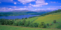 Windermere from Low Skelghyll, Cumbria, England.
