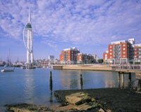 The Spinnaker Tower, Portsmouth, Hampshire, England.
