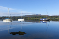 Windermere, Coniston Old Man & Wetherlam,  Cumbria, England.