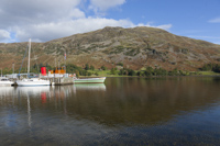 Glenridding Pier & Place Fell, Ullswater, Cumbria, England.