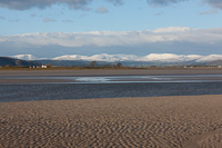 Lakeland Fells from Sandside, Cumbria, England.