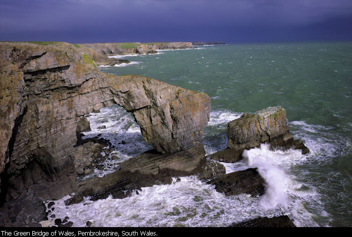 The Green Bridge of Wales, Pembrokeshire, South Wales.