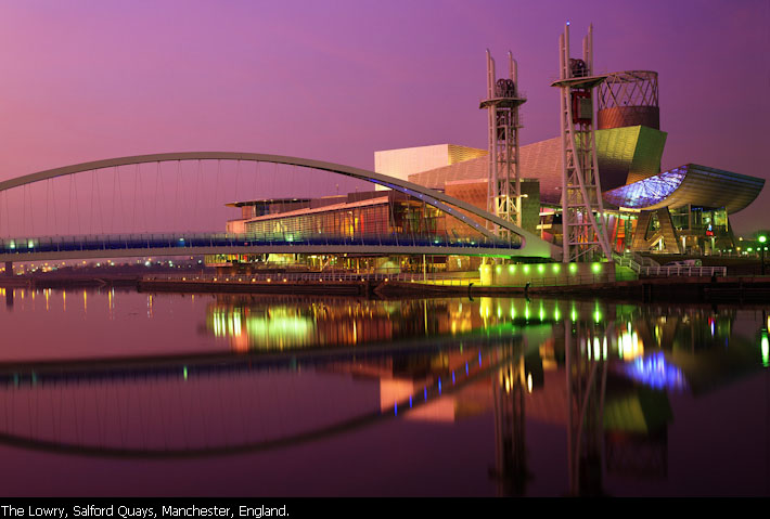 The Lowry, Salford Quays, Manchester, England.