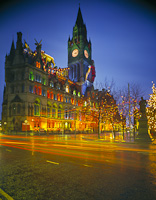 Manchester Christmas Lights, England.