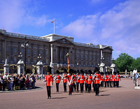 Changing of the Guard, Buckingham Palace, London, England.