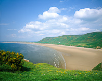 Rhossili Bay, The Gower, Swansea, Wales.