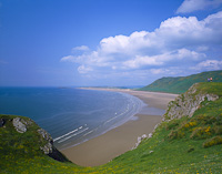 Rhossili Bay, The Gower, South Wales.