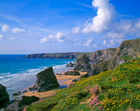Bedruthen Steps, Nr. Newquay, Cornwall, England.