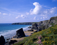 Bedruthan Steps, Nr. Newquay, Cornwall, England.