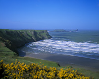 Rhossili Bay & Worms Head, The Gower, Nr. Swansea, South Wales.