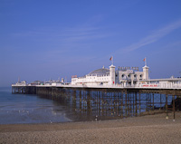 Palace Pier, Brighton, East Sussex, England.