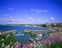 Newquay Harbour, Cornwall, England.