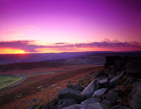 Stanage Edge & Hope Valley, North Derbyshire, England.