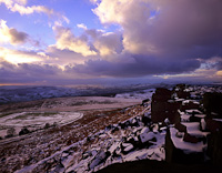 Stanage Edge, North Derbyshire, England.