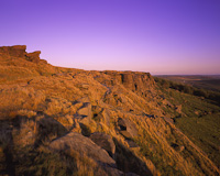 Stanage Edge, Peak District, Derbyshire, England.
