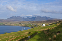 Loch Harport & the Cuillins from Carbost, Skye, Hebrides, Scotland.