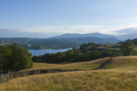 Windermere, Coniston Old Man & Wetherlam from Skelghyll, Cumbria, England.