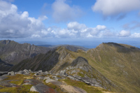 The Saddle, Mullach Buidhe & North Goatfell from Goatfell, Arran, Ayrshire, Scotland.