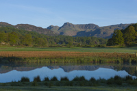 River Brathay & The Langdale Pikes, Cumbria, England.
