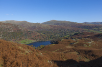 Rydal Water from Loughrigg Fell, Cumbria, England.