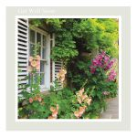Get Well Soon card -'Hollyhock' - message inside reads: wishing you a speedy recovery