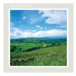 Birthday Card - Summertime Pastures - inside message reads: wishing you a very happy birthday