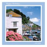Birthday Card - Harbour Boats - inside message reads: wishing you a very happy birthday