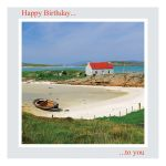 Birthday Card - Cottage by the Sea - message inside reads: find time to relax, it's your birthday