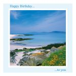 Birthday Card - Blue Skies, White Sands - message inside reads: have a wonderful day