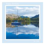 Birthday Card - Peace and Tranquility - message inside reads: best wishes on your birthday