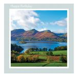 Birthday Card - Cat Bells and Derwent Water - message inside reads: Have a wonderful Day