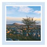 Thank You card - Evening Light - left blank for your own image