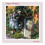 Birthday Card - Pink Roses - inside message reads: wishing you a wonderful birthday