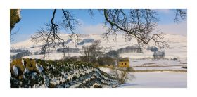 Yorkshire Dales greeting card - Wensleydale - blank for your own message