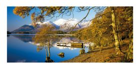 Cumbria greeting card - Derwent Water & Skiddaw - blank for your own message