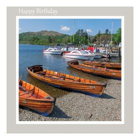 TBirthday Card - Windermere Lake from Waterhead - meassage inside reads: Best Wishes on your Birthday