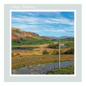 Birthday Card - Little Langdale - message inside reads: Wishing you a very Happy Birthday reads: Best Wishes on your Birthday